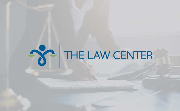 The Law Center fallback image with logo.