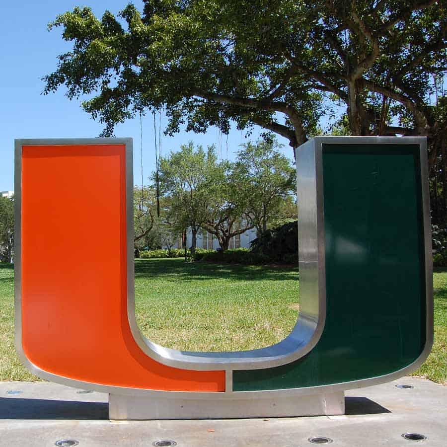 University of Miami Campus Entrance