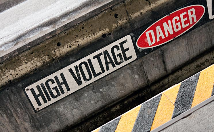 High Voltage Danger Sign